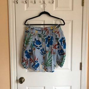 Off shoulder Hawaiian blouse